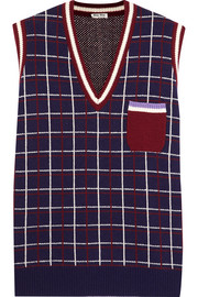 Checked wool vest