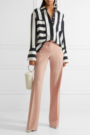 Miu Miu Grain de poudre stretch-wool wide-leg pants