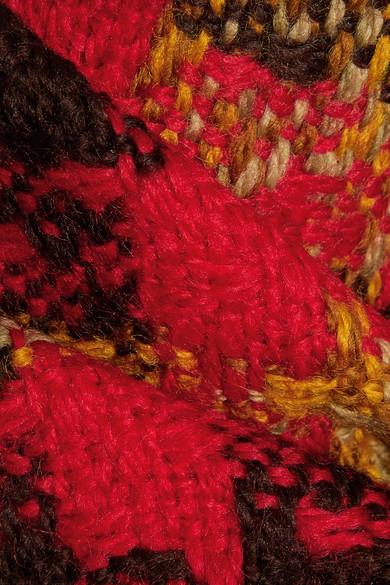 Miu Miu Rock aus Woll-Tweed mit Karomuster