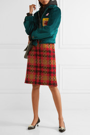 Miu Miu Checked wool-tweed skirt