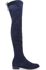 Stuart Weitzman Lowland stretch-suede over-the-knee boots
