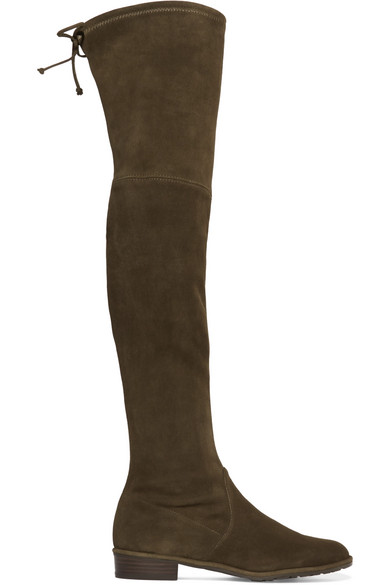 Stuart Weitzman   Lowland stretch-suede over-the-knee boots   NET-A ... 4d3be733f898