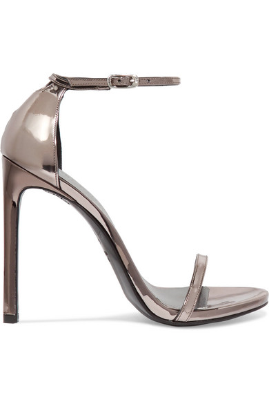 authentic Stuart Weitzman Metallic Leather Sandals outlet the cheapest free shipping wiki outlet store online cheap brand new unisex qvoSWz9uj