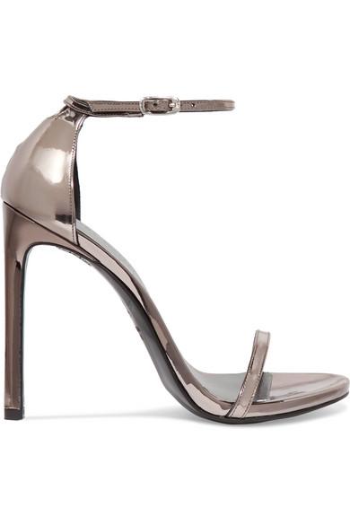 cheap real finishline Stuart Weitzman Metallic Leather Sandals cheap Inexpensive dxLpDuQ8ju