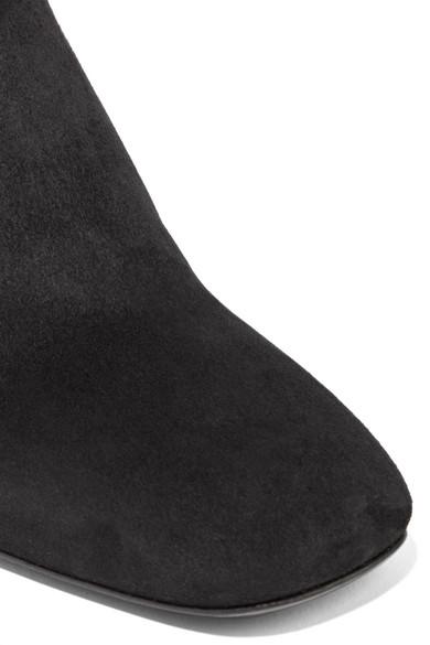 Prada Ankle Boots aus Veloursleder Billige Eastbay Wirklich Billig Preis 8wFfMMqOsR