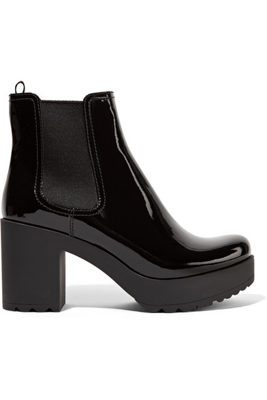 33c0ff4ddc6 Prada. Patent-leather ankle boots