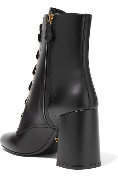 c8a133f535ce Prada. Lace-up leather ankle boots.  495. Zoom In