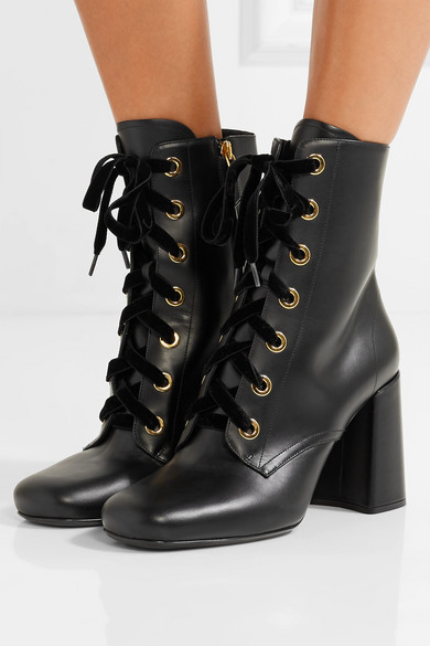 Prada Leather Ankle Boots Knock Off Discounts Free Shipping Get To Buy Sale 2018 Newest Buy Cheap Sneakernews Lv6s7lh