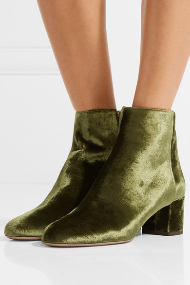 good selling casual shoes order Brooklyn velvet ankle boots