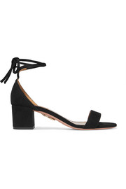 Aquazzura City suede sandals