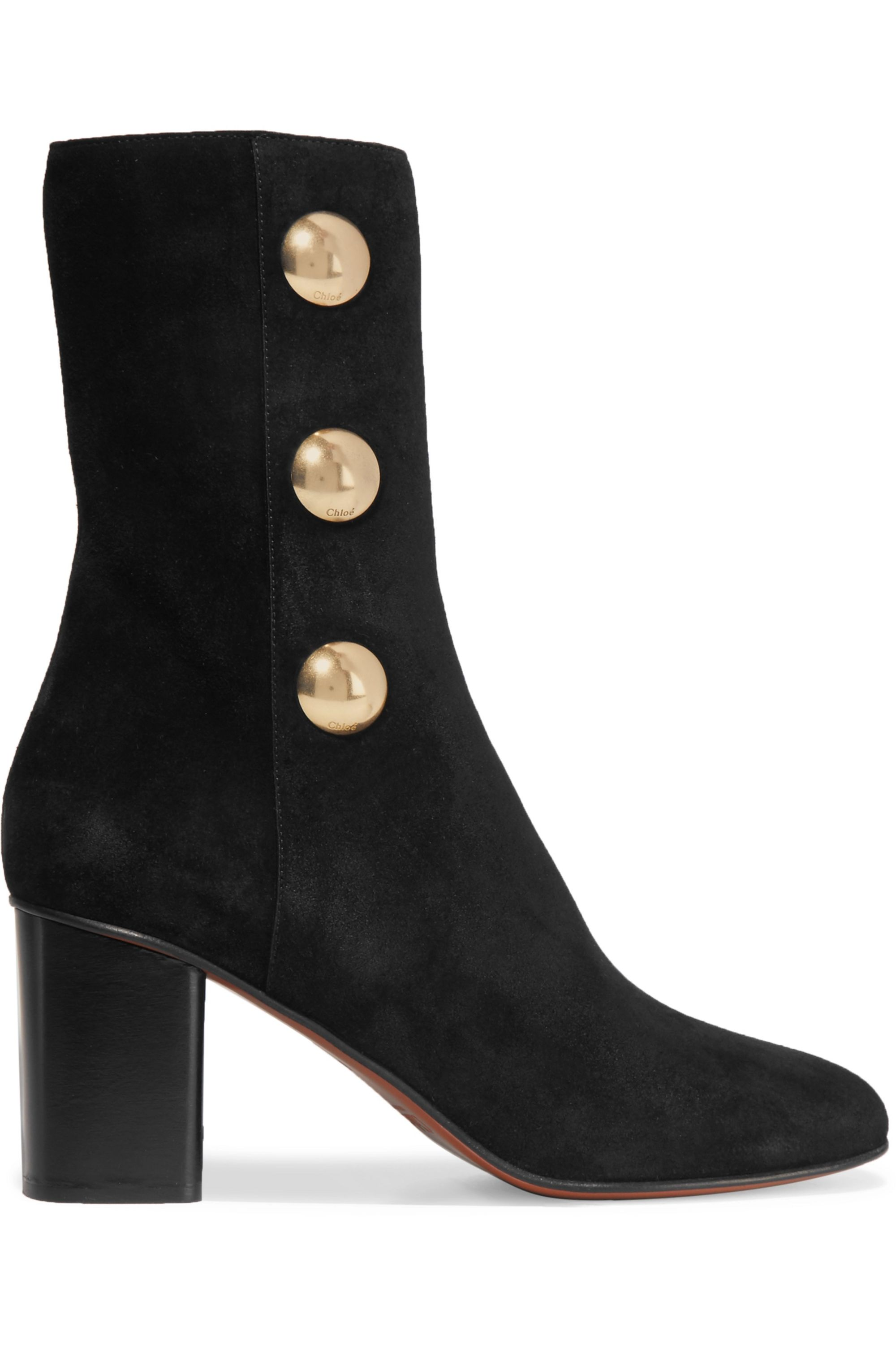 Chloé Orlando embellished suede ankle boots