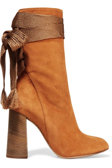 2e39bb33d0df4 ChloÉ Harper Suede Ankle Boots In Tan