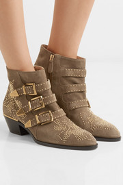 Chloé Susanna studded suede ankle boots