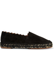 Lauren scalloped suede espadrilles