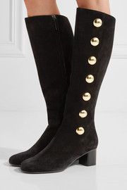Chloé Orlando studded suede knee boots