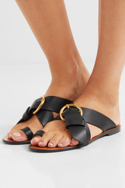 Nils textured-leather sandals
