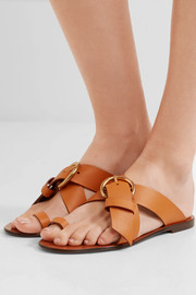 Chloé Nils textured-leather sandals