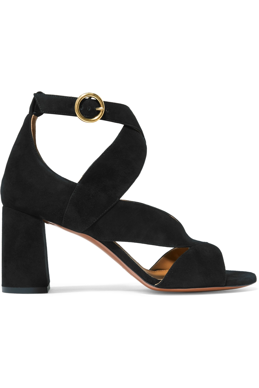 chloe suede sandals