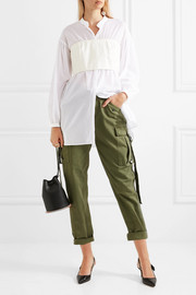 3.1 Phillip Lim Layered twill and cotton-voile blouse
