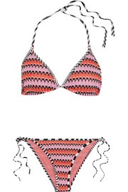 Missoni Mare crochet-knit triangle bikini