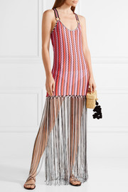 Missoni Mare fringed crochet-knit maxi dress