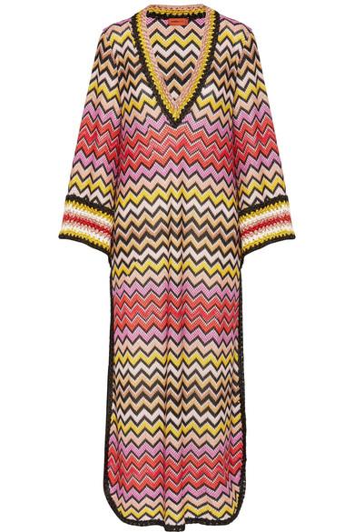 Missoni - Mare Metallic Crochet-knit Kaftan - Bronze