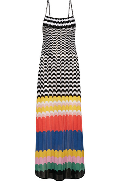 Missoni - Mare Macramé-trimmed Knitted Maxi Dress - Blue