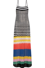 Missoni Mare macramé-trimmed knitted maxi dress