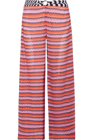 97d087eb10e1b Missoni. Mare cropped crochet-knit wide-leg pants