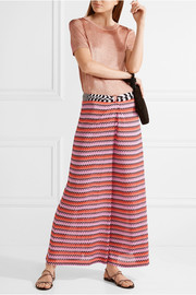 Missoni Mare cropped crochet-knit wide-leg pants