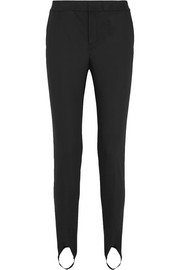 Helmut Lang Stretch-jersey slim-leg stirrup pants