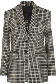 Helmut Lang Checked wool blazer