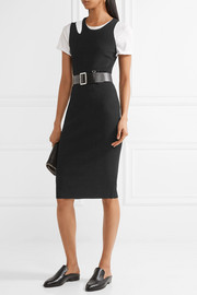 Helmut Lang Cutout ribbed stretch-knit dress