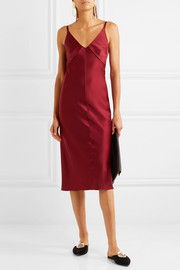 Helmut Lang Satin midi dress