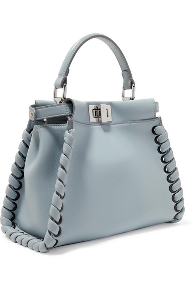 0207f7ee1987 Fendi. Peekaboo mini whipstitched leather shoulder bag