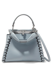 Fendi Peekaboo mini whipstitched leather shoulder bag