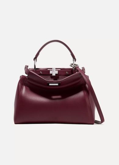 08f991bfb4 Fendi | Peekaboo mini leather shoulder bag | NET-A-PORTER.COM
