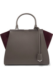3Jours suede-paneled leather tote