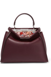 Peekaboo medium embellished leather tote