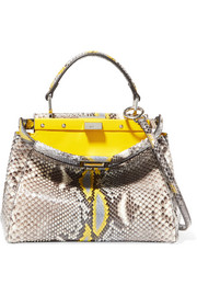 Fendi Peekaboo mini python shoulder bag