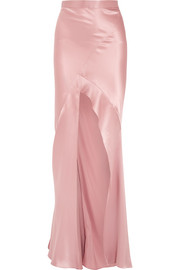 Michelle Mason Silk-charmeuse maxi skirt