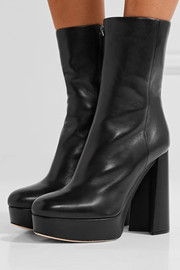 Miu Miu Leather platform boots