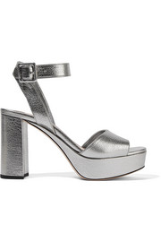 Miu Miu Textured-leather platform sandals