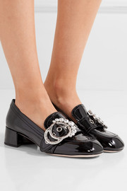 Miu Miu Embellished patent-leather pumps