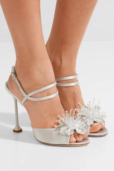 Embellished satin sandals Miu Miu gasgY22Y4G
