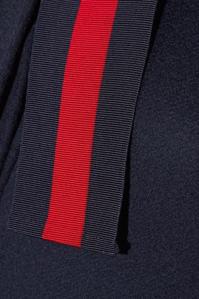 Gucci Verzierter Mantel aus Wolle mit Ripsbandbesätzen Günstige Preise Authentisch Billig Verkauf Beliebt Verkauf Wie Viel Shop Günstig Online KYIqGIDMJn