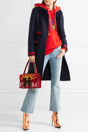 Gucci Embellished grosgrain-trimmed wool coat