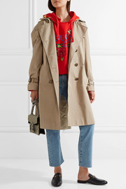 Gucci Silk faille-trimmed cotton-blend gabardine trench coat