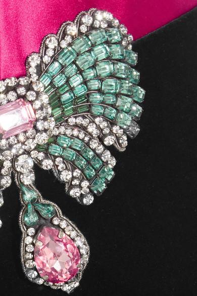 Gucci Verzierte Neckholder-Robe aus Samt aus einer Baumwollmischung und Seidensatin Verkauf Visum Zahlung Billig Verkaufen Authentisch pes3fs