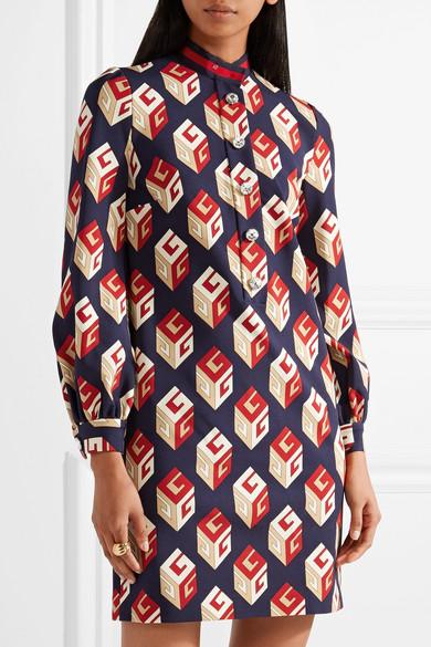 Auslass Wirklich Gucci Verziertes Minikleid aus bedrucktem Stretch-Jersey Billig Verkauf Großhandelspreis Wie Viel Online-Verkauf 3IC5kr